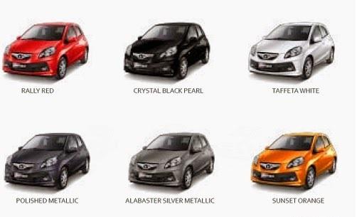 Pilihan Warna Mobil Honda Brio-Satya, Kredit Honda Brio Bandung